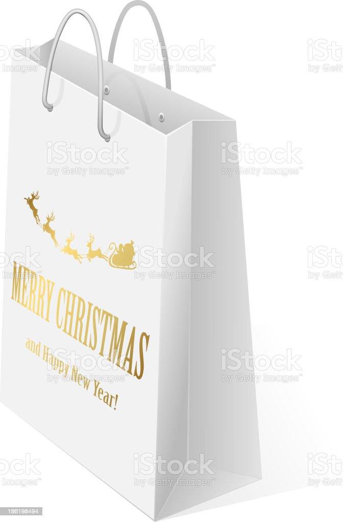 Christmas bag royalty-free stock vector art