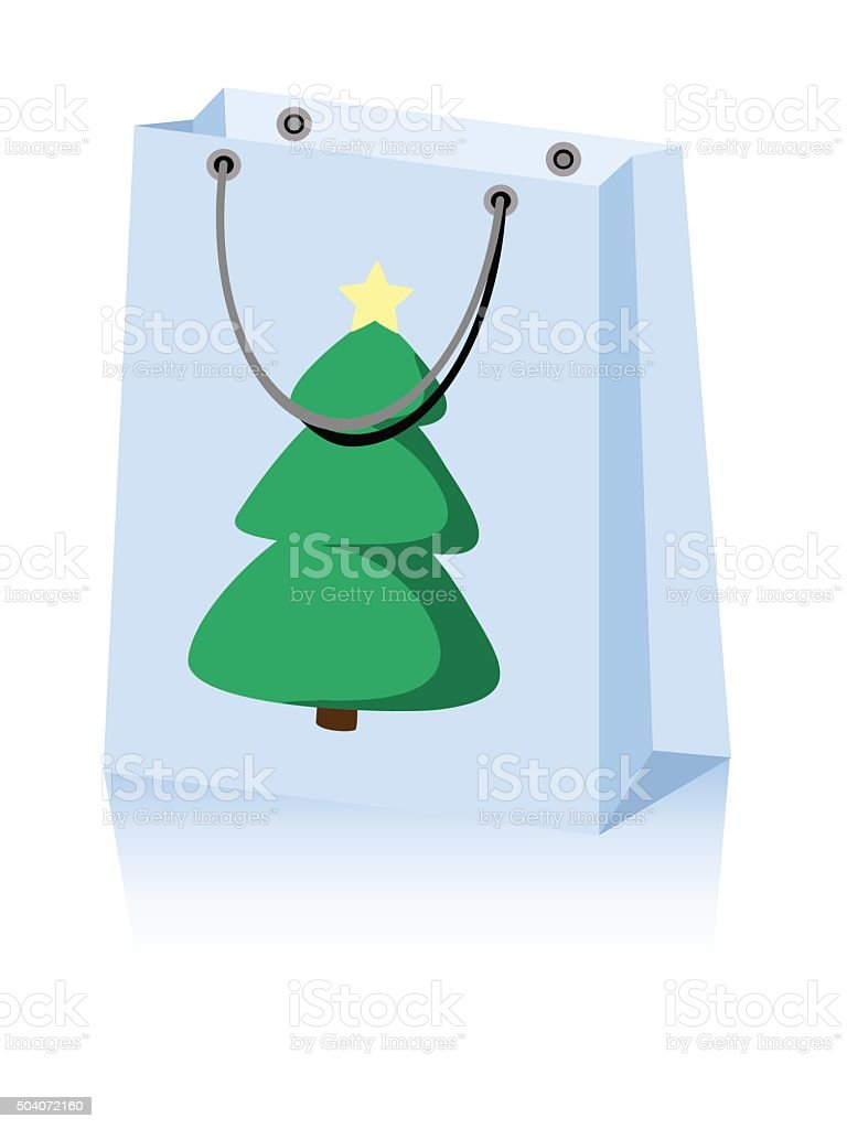 Christmas bag vector art illustration