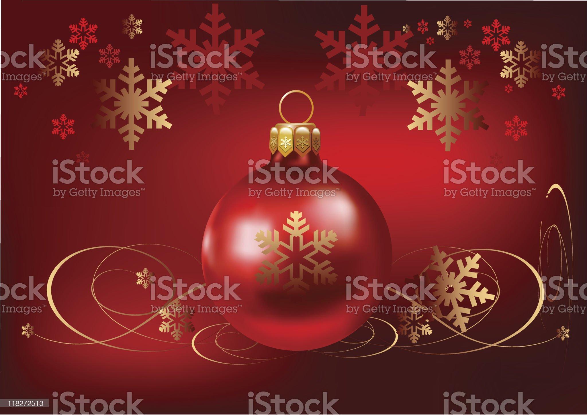 Christmas ball background royalty-free stock vector art
