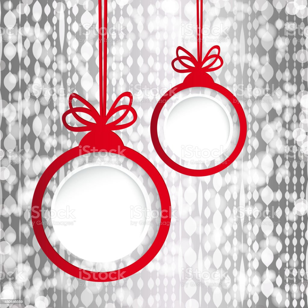 Christmas ball in the form of an empty frame royalty-free stock vector art