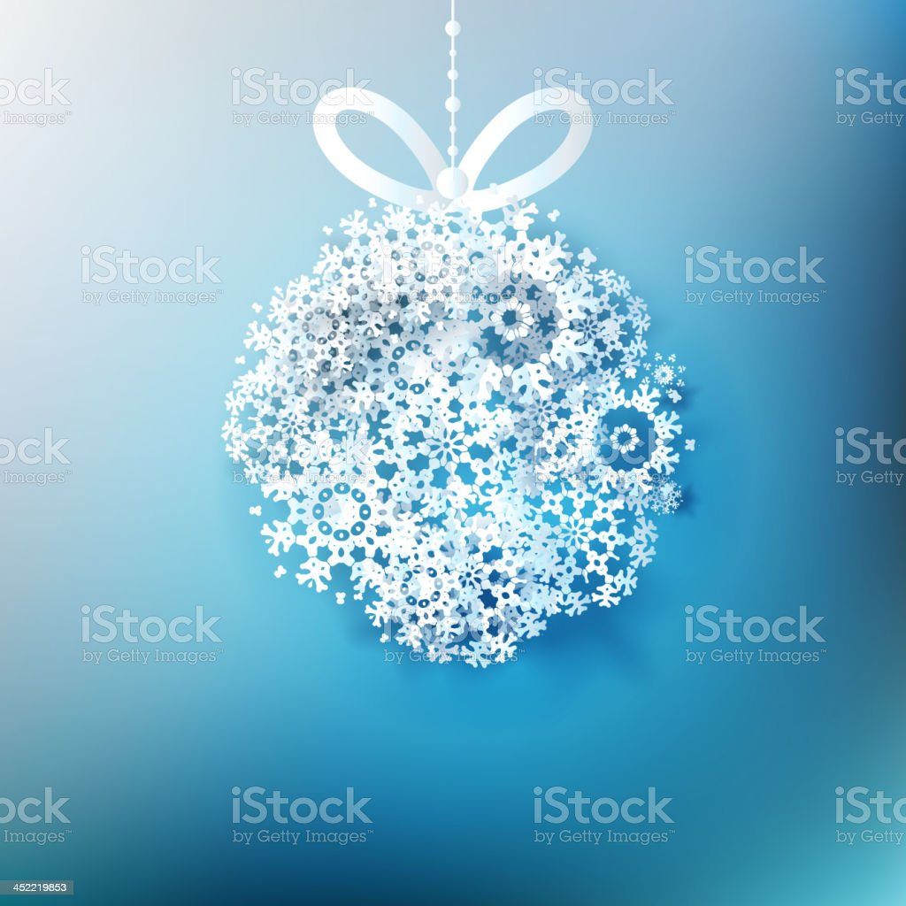 Christmas ball made from snowflakes. EPS 10 royalty-free stock vector art
