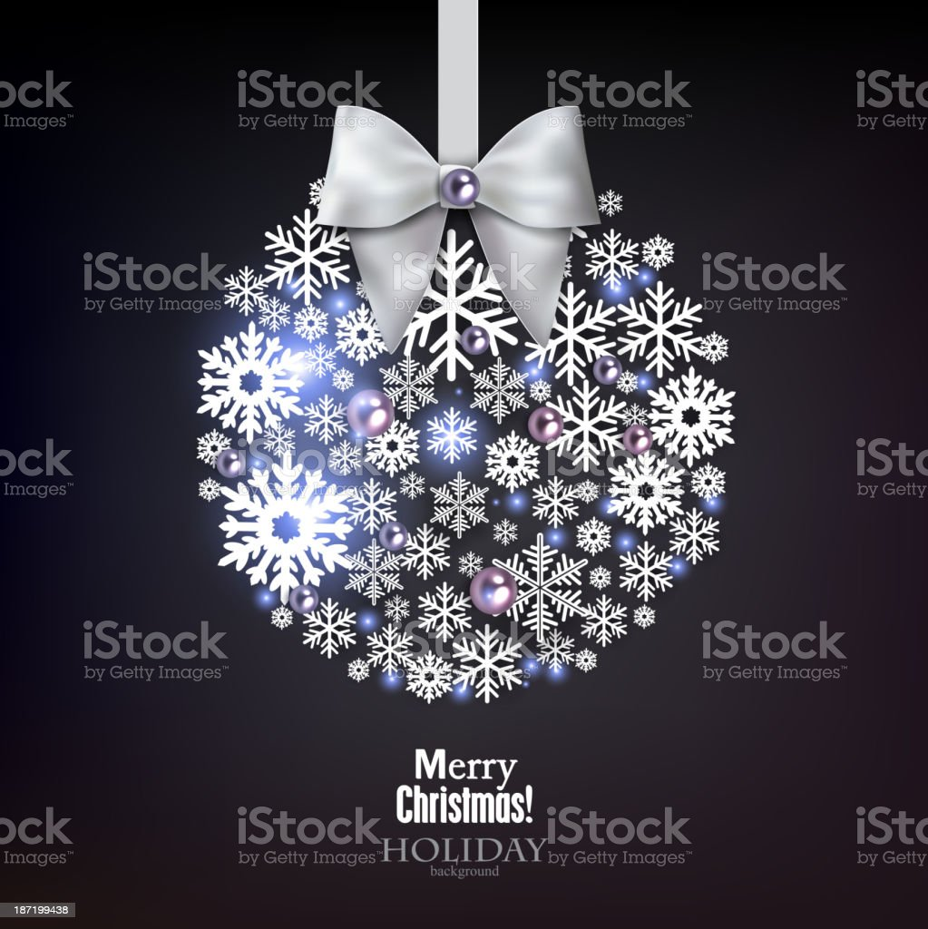 Christmas ball made from snowflakes. royalty-free stock vector art