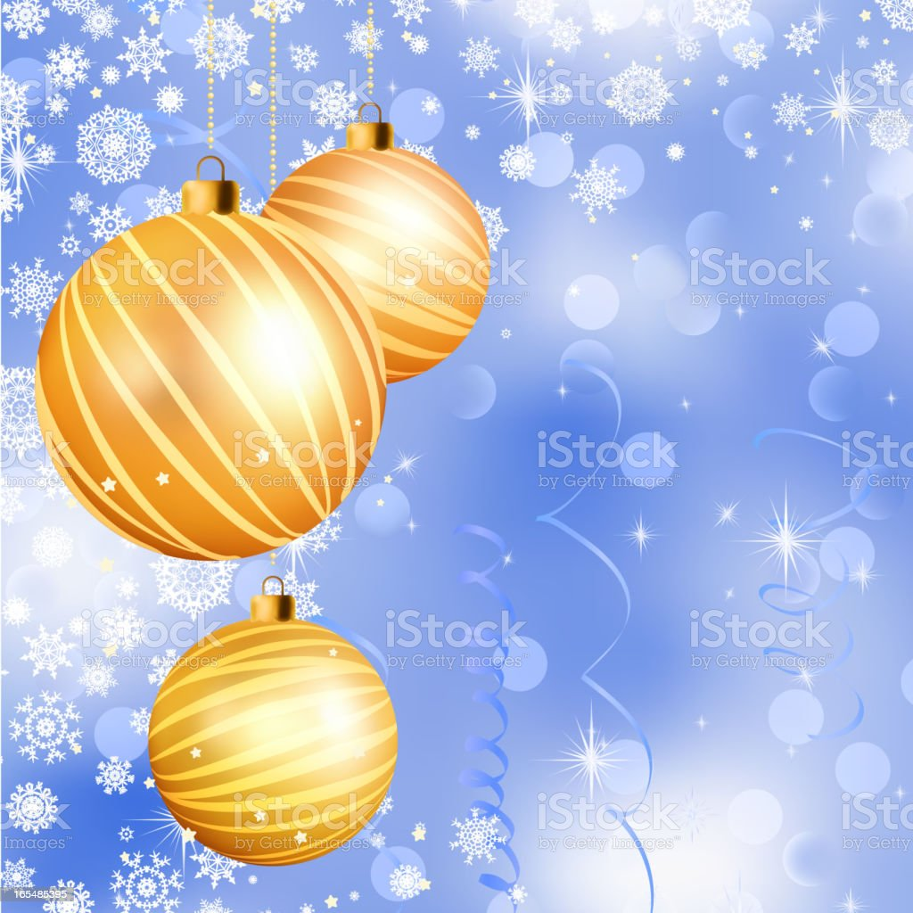 Christmas ball on abstract blue lights. EPS 8 royalty-free stock vector art