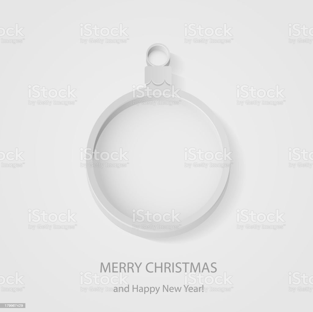 Christmas ball on gray background royalty-free stock vector art