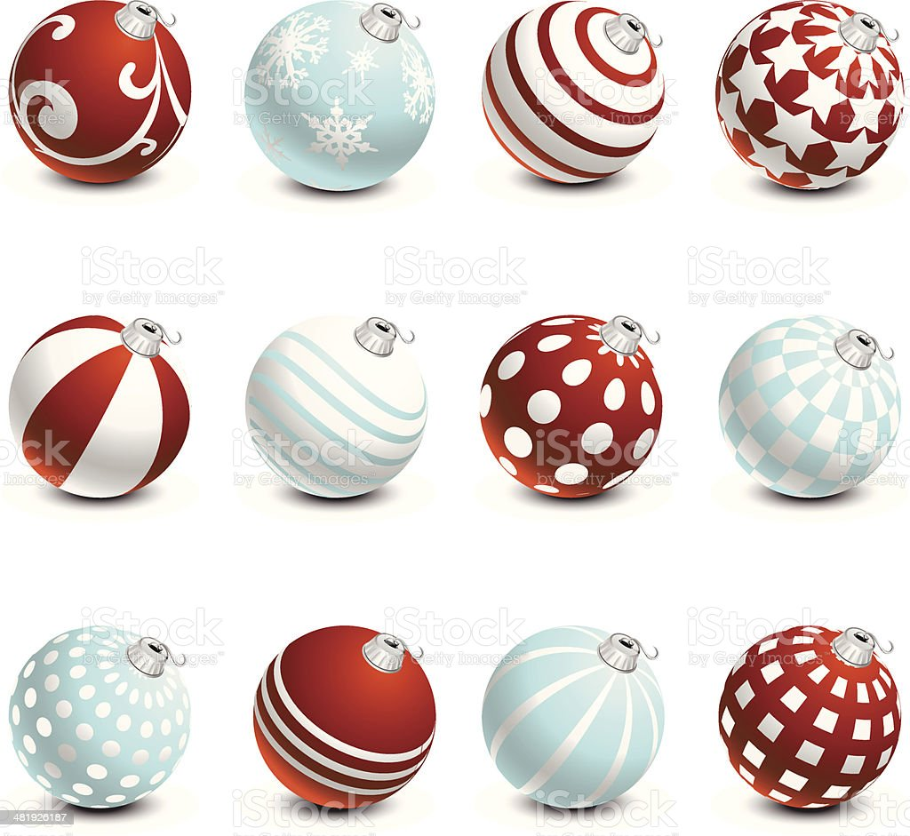 Christmas Ball Ornaments royalty-free stock vector art