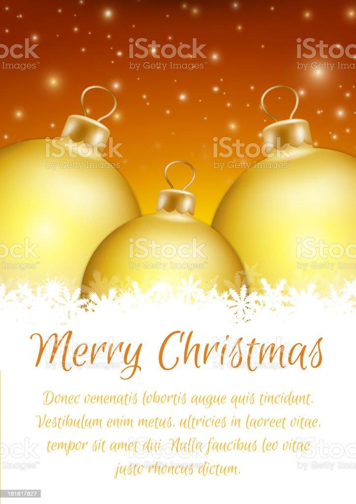 Christmas ball poster card royalty-free stock vector art