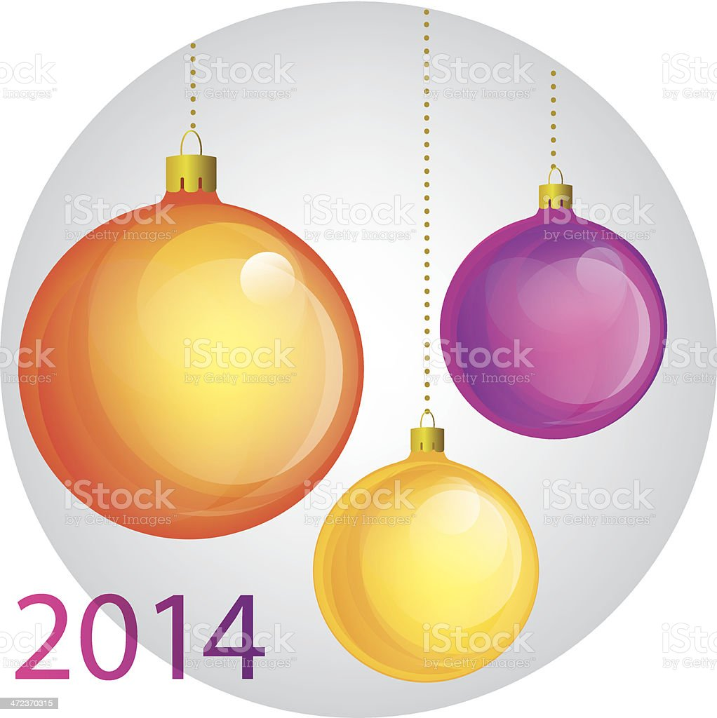 Christmas ball set. Vector design elements vector art illustration