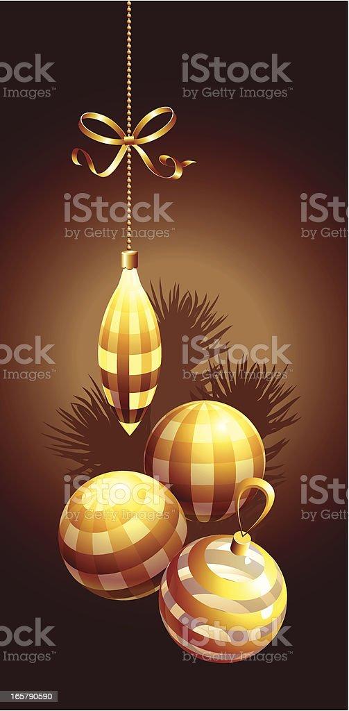 christmas ball set royalty-free stock vector art