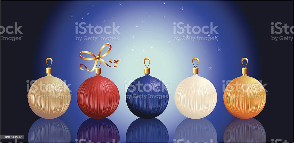christmas ball set royalty-free stock vector art