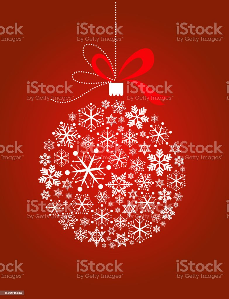 Christmas ball vector art illustration
