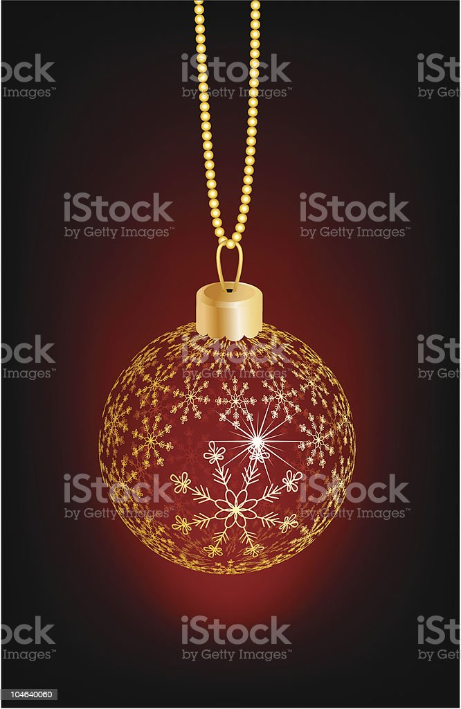 Christmas ball with snowflakes. royalty-free stock vector art