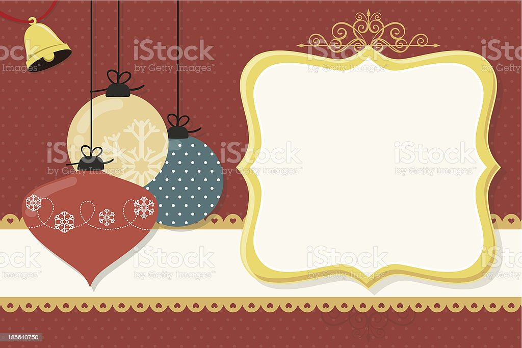 christmas balls card royalty-free stock vector art