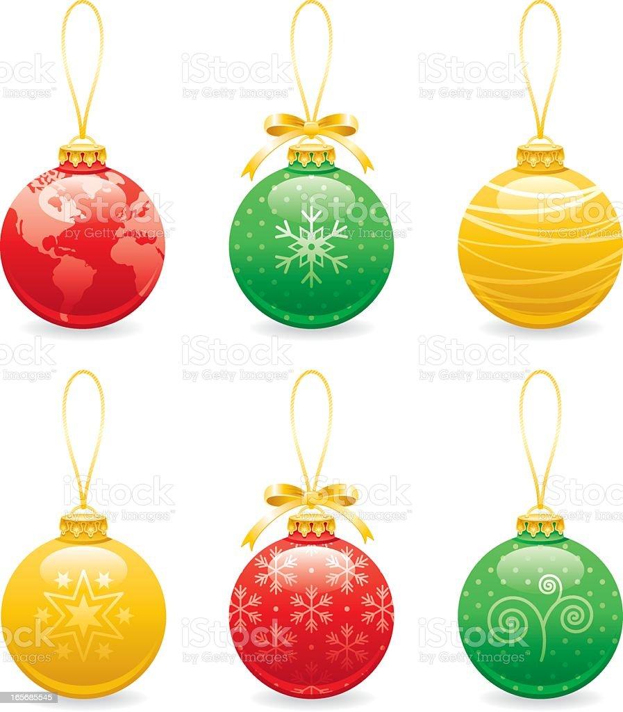 Christmas balls decoration icon set royalty-free stock vector art