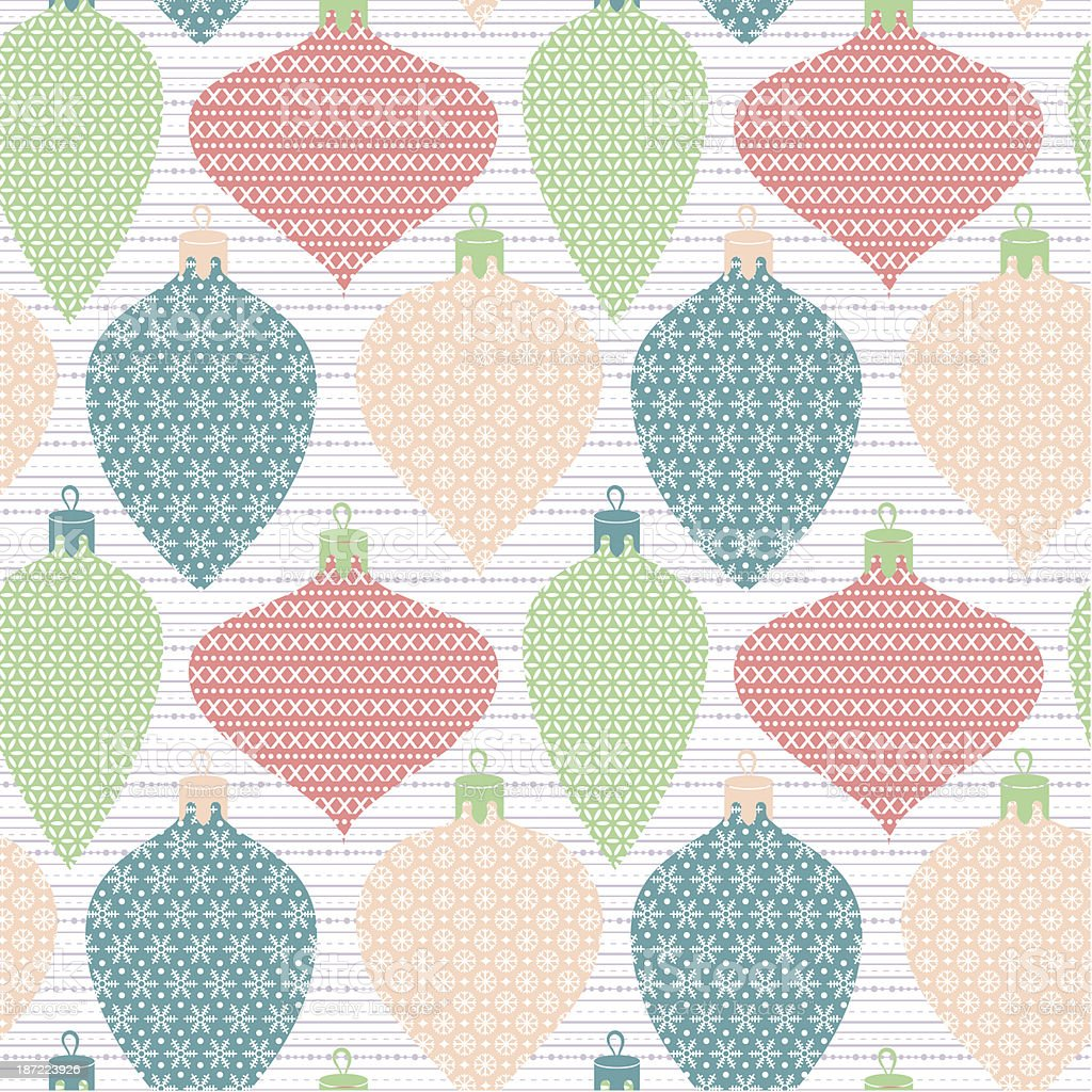 Christmas balls seamless pattern royalty-free stock vector art