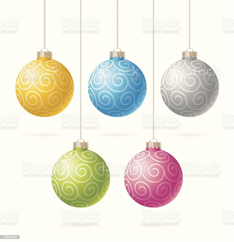 Christmas balls royalty-free stock vector art