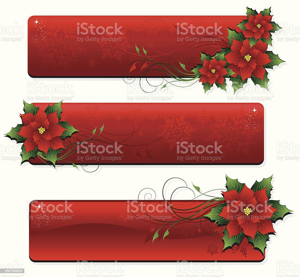 Christmas Banner Poinsettia royalty-free stock vector art