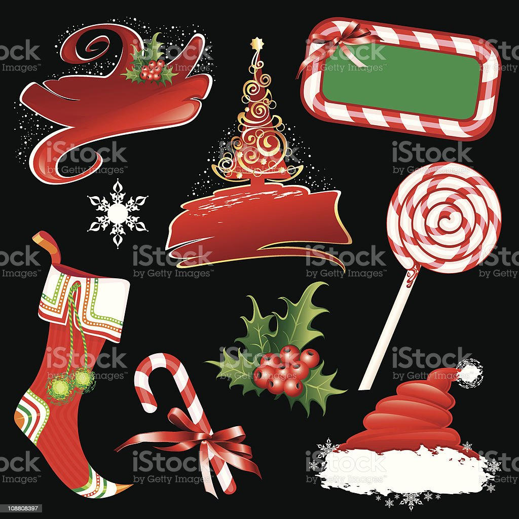 Christmas banners and design elements. royalty-free stock vector art