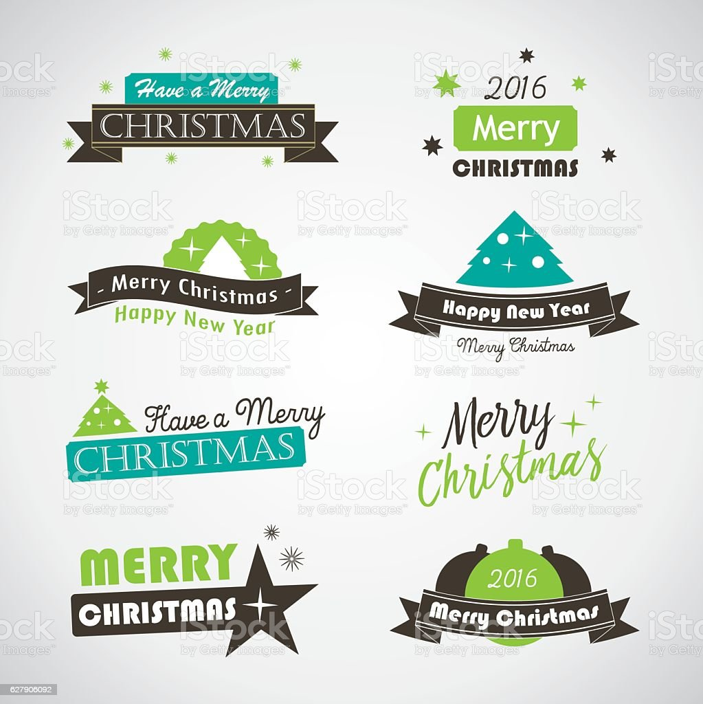 Christmas banners and labels - vector royalty-free stock vector art