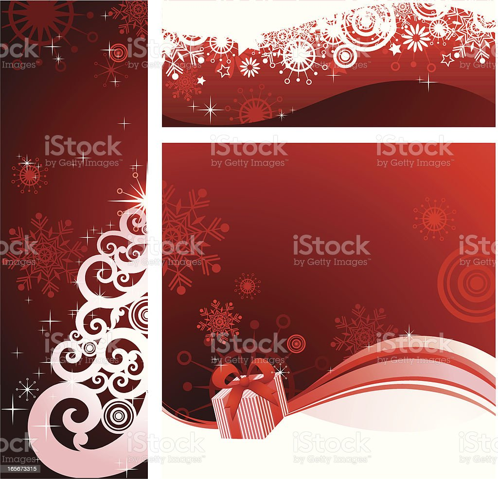 Christmas banners design royalty-free stock vector art