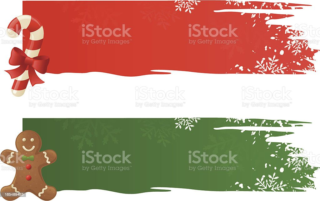 Christmas Banners - incl. jpeg royalty-free stock vector art