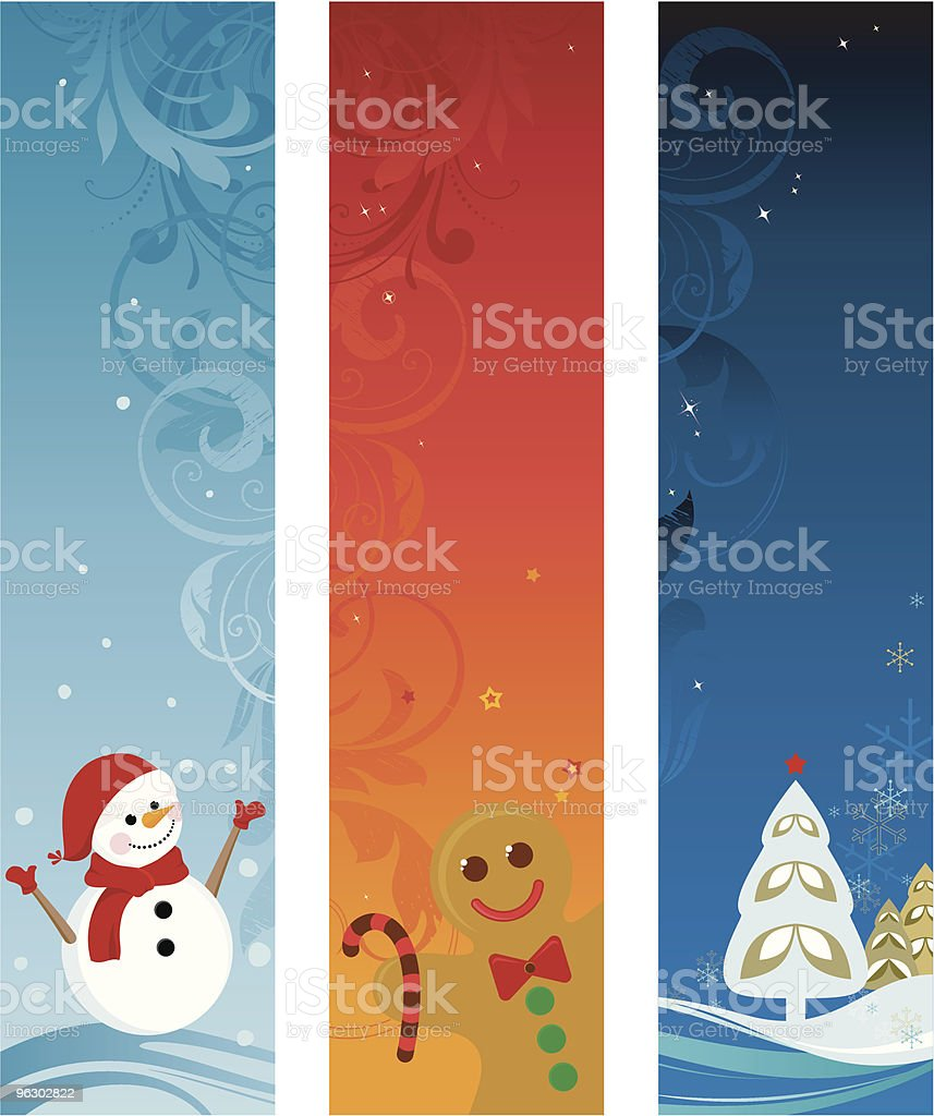 Christmas Banners Set royalty-free stock vector art