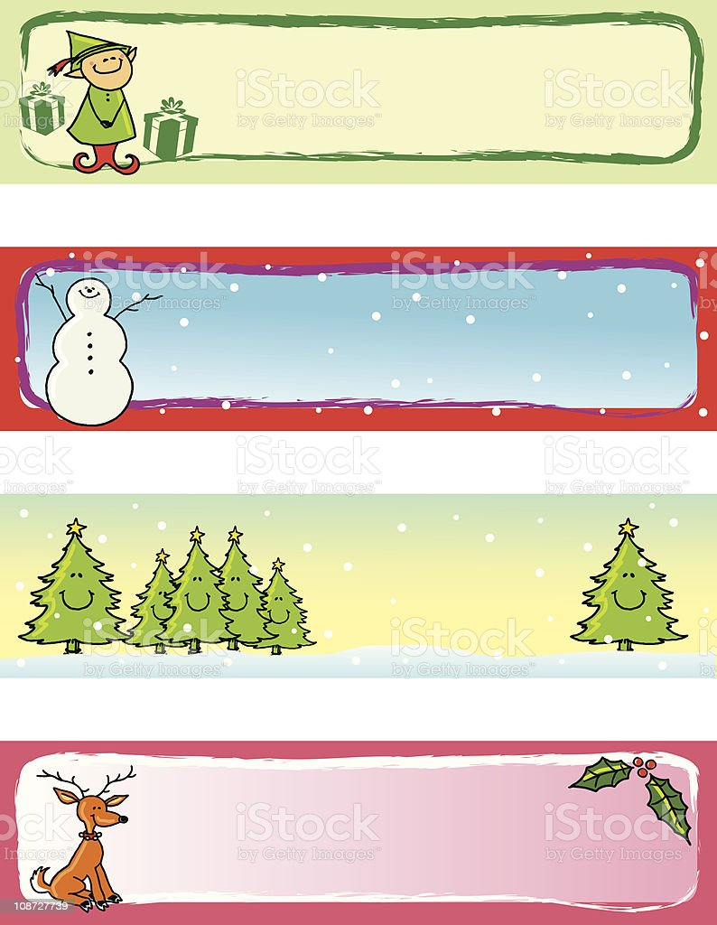 Christmas Banners & Tags royalty-free stock vector art