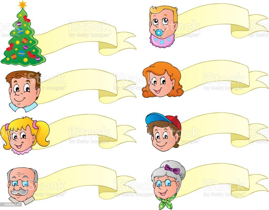 Christmas banners theme set 1 royalty-free stock vector art