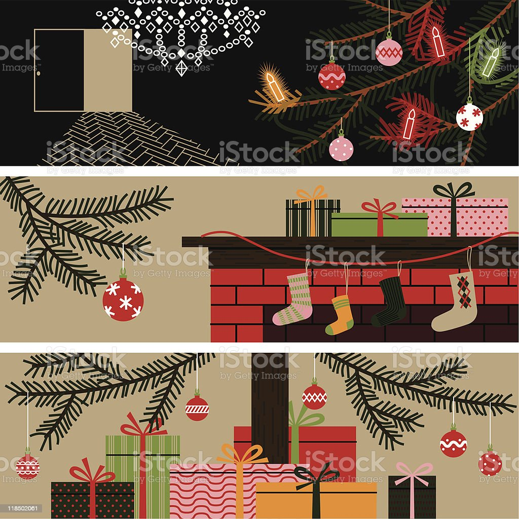 Christmas banners. royalty-free stock vector art