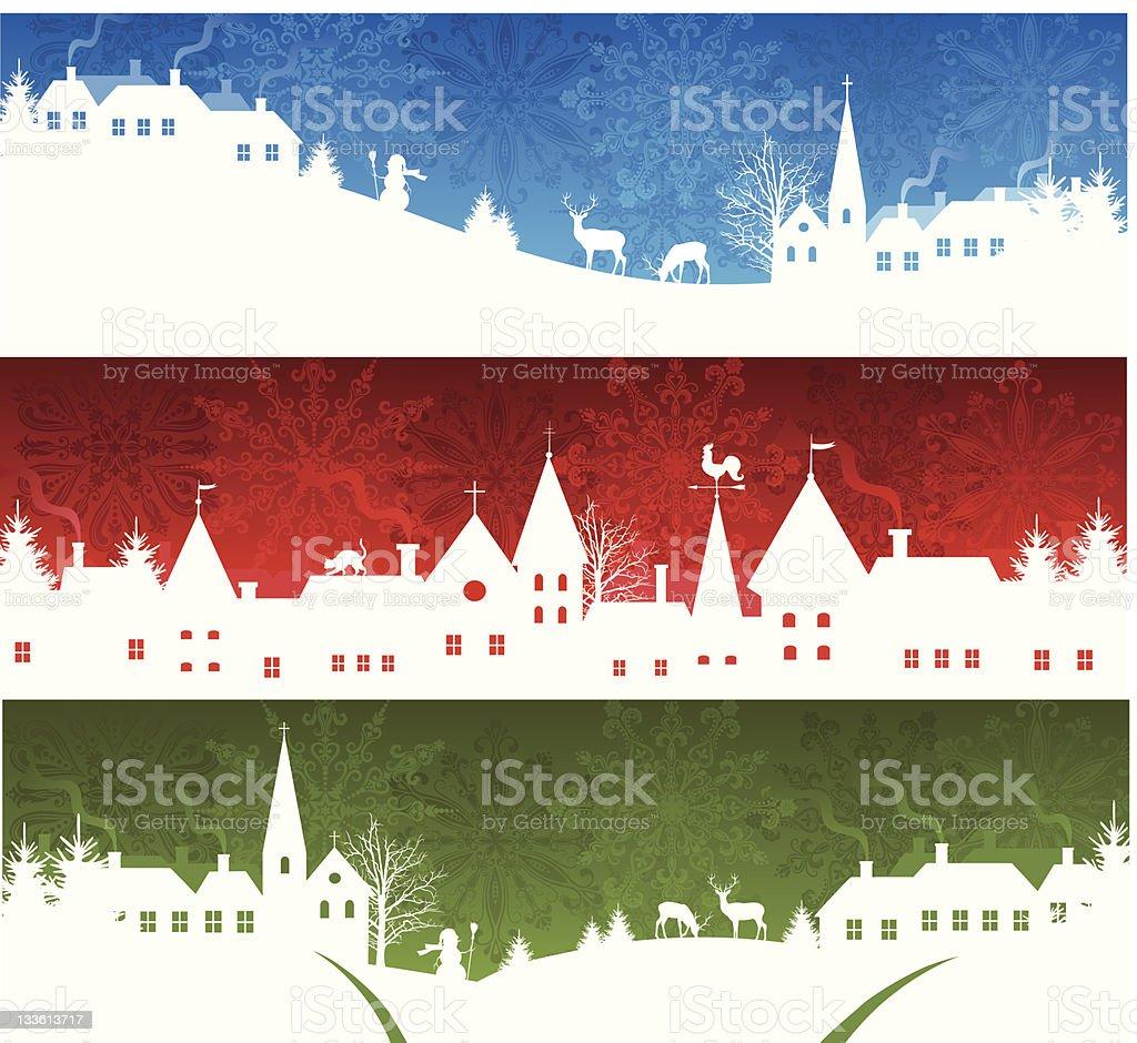 Christmas banners. vector art illustration