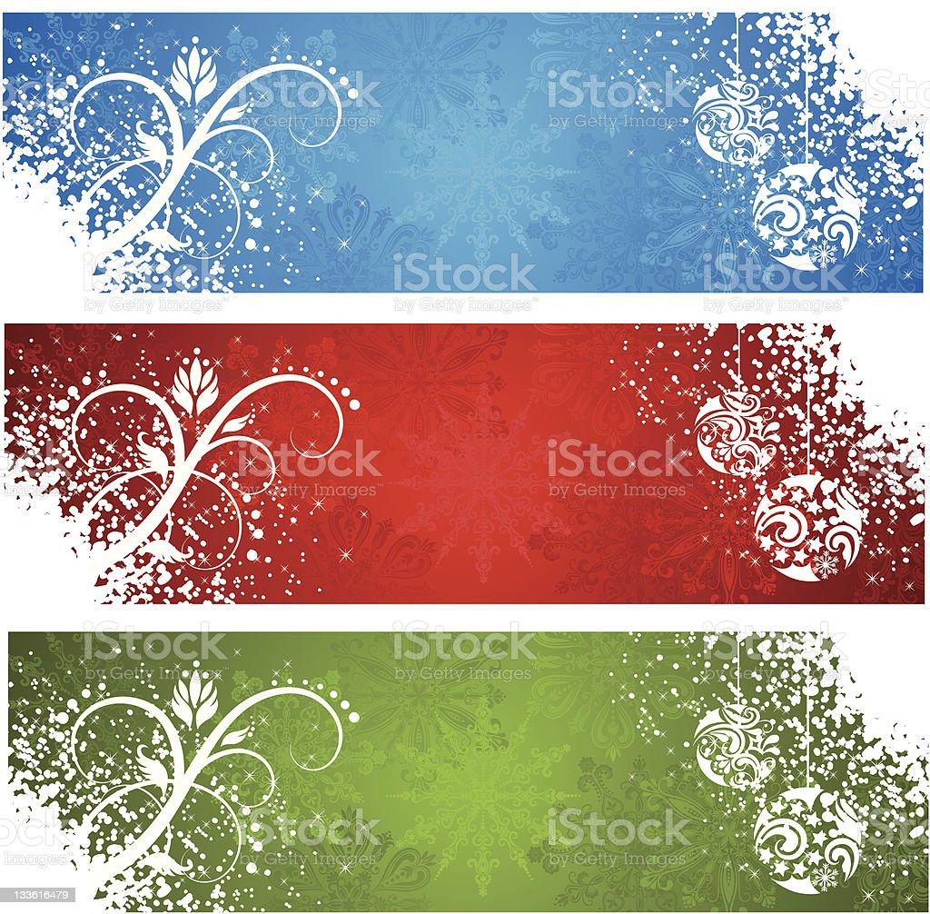 Christmas banners. royalty-free stock vector art