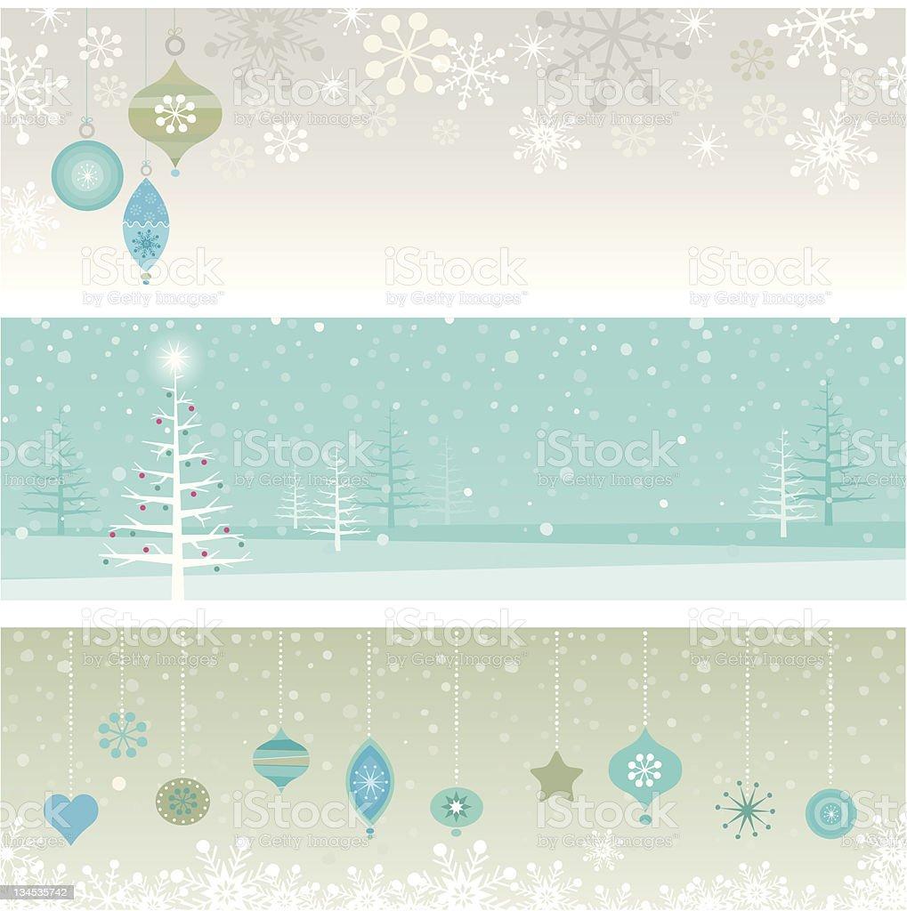Christmas banners stock photo