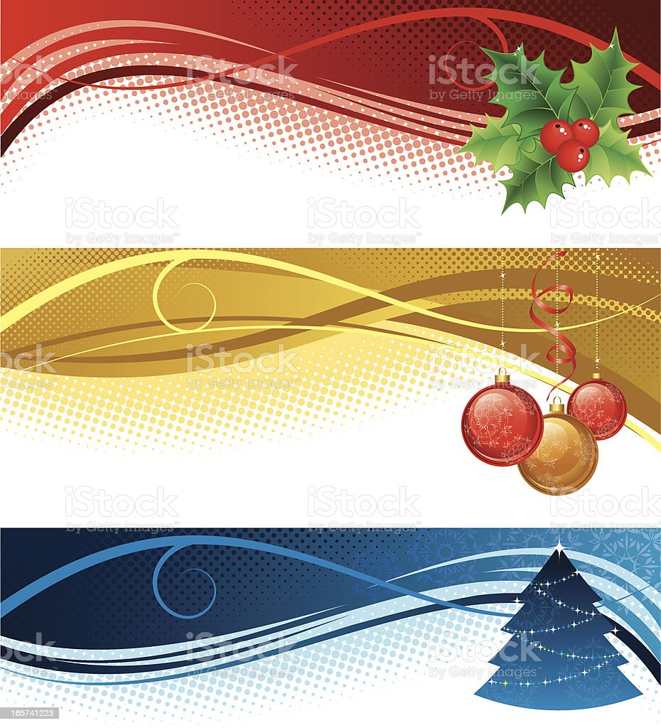 Christmas banners royalty-free stock vector art