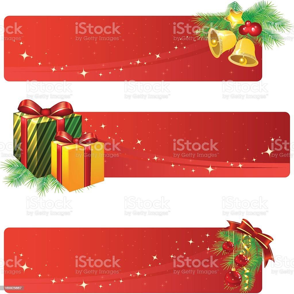 Bannières de Noël stock vecteur libres de droits libre de droits