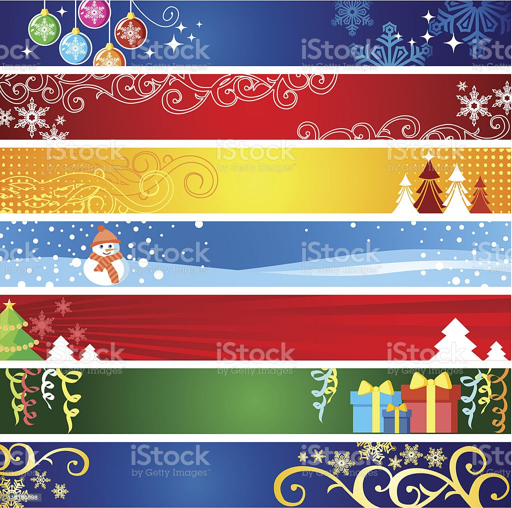 Christmas banners  with space for internet page royalty-free stock vector art