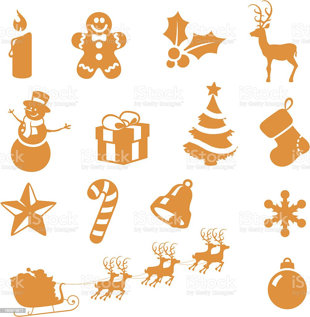Christmas Basics royalty-free stock vector art