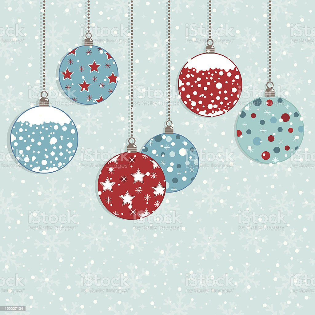 christmas bauble decorations royalty-free stock vector art