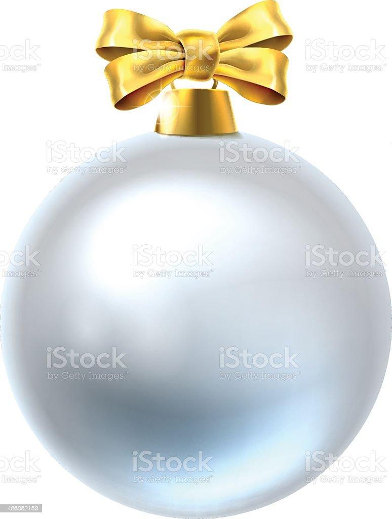 Christmas Bauble vector art illustration