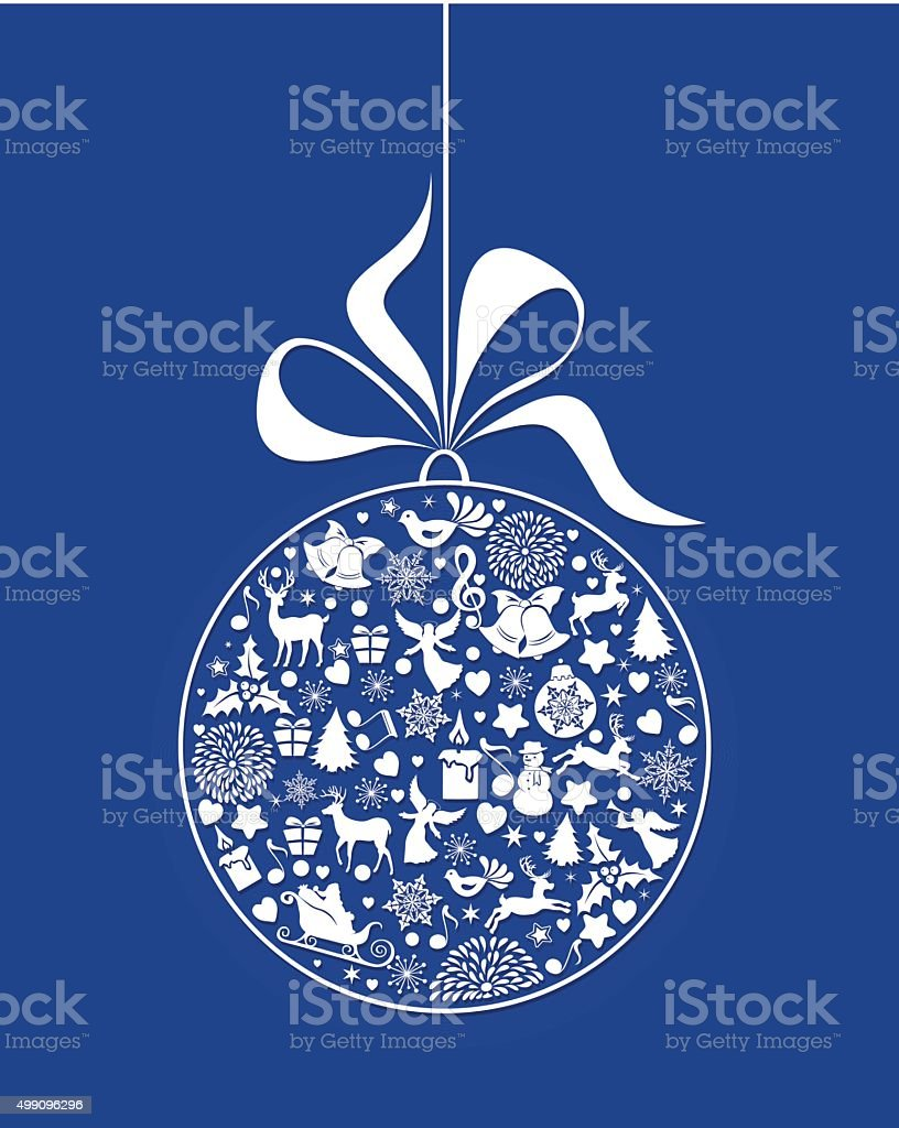 Christmas Bauble vector art illustration