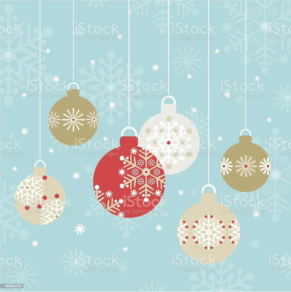 Christmas Baubles Ornaments royalty-free stock vector art