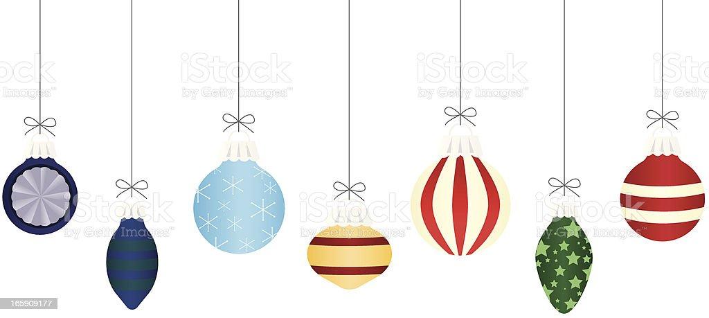 Christmas Baubles vector art illustration