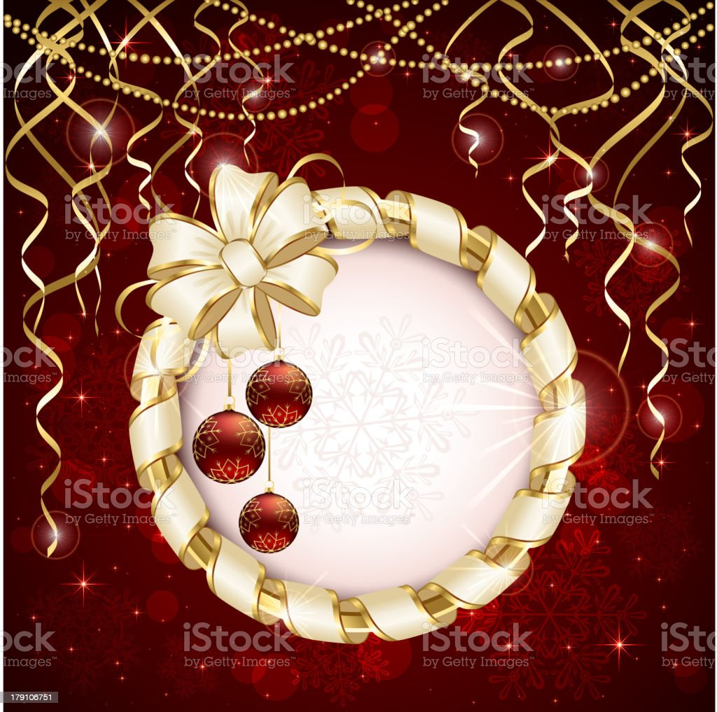 Christmas baubles royalty-free stock vector art