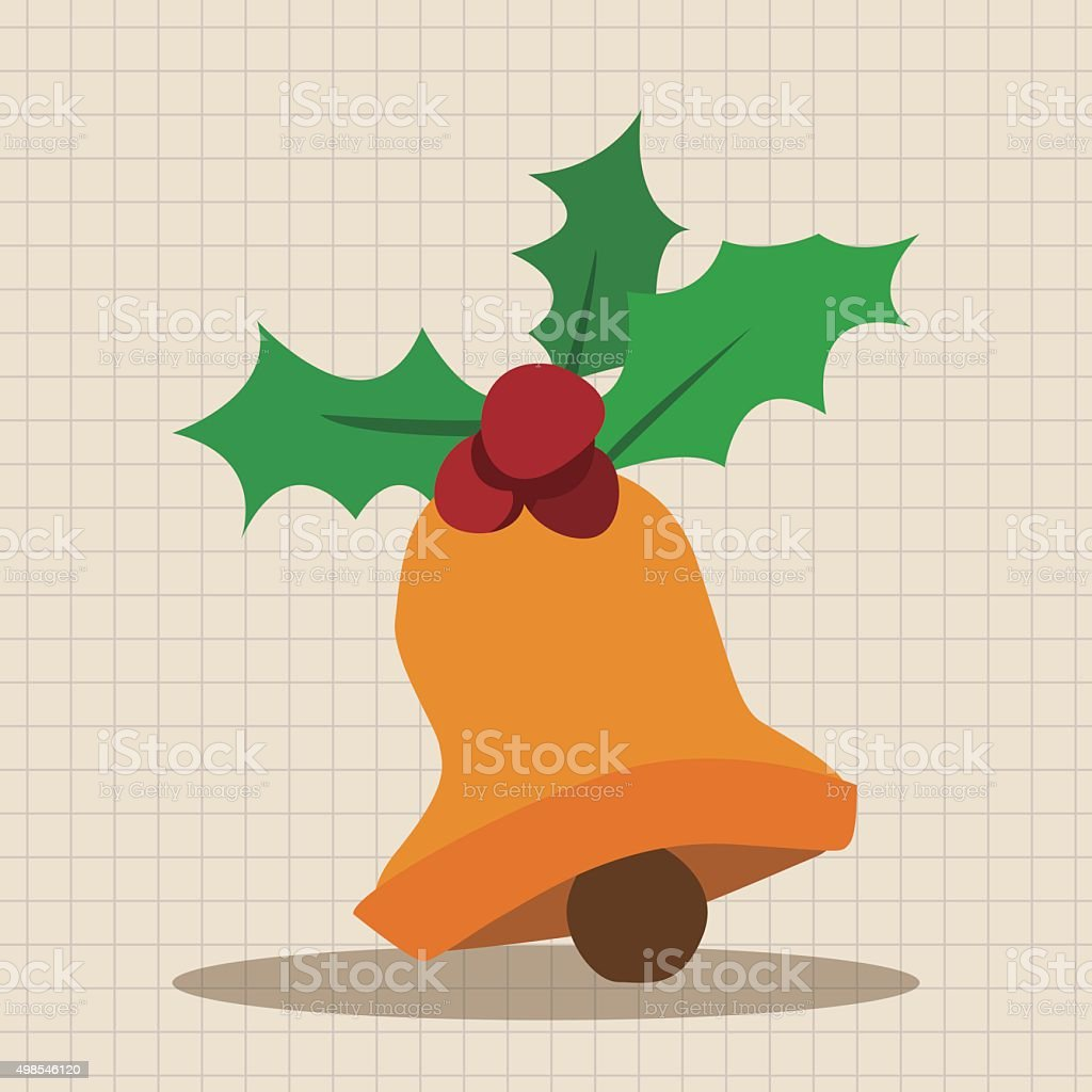 Christmas bell flat icon elements background,eps10 vector art illustration