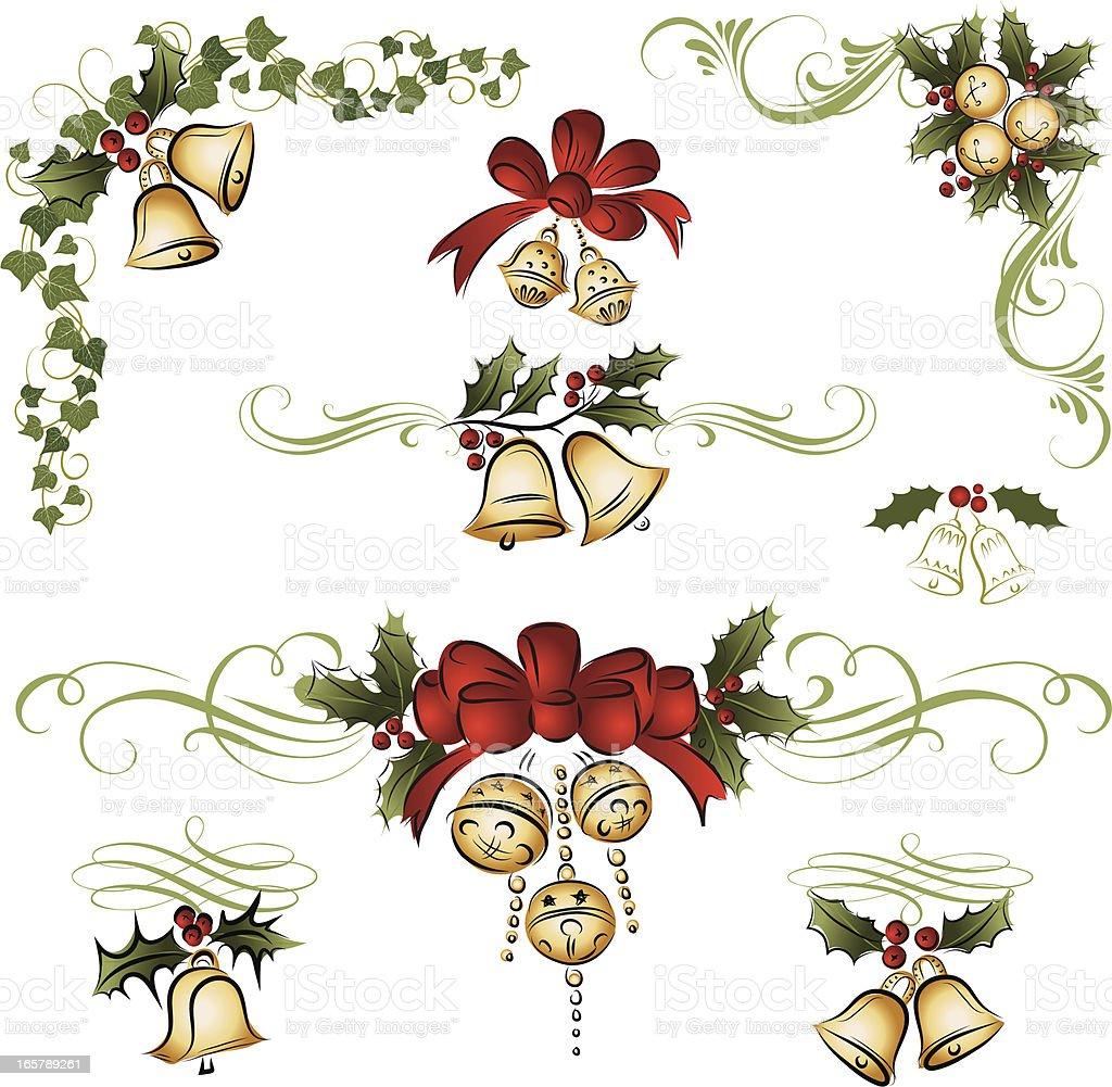 Christmas bell ornament royalty-free stock vector art