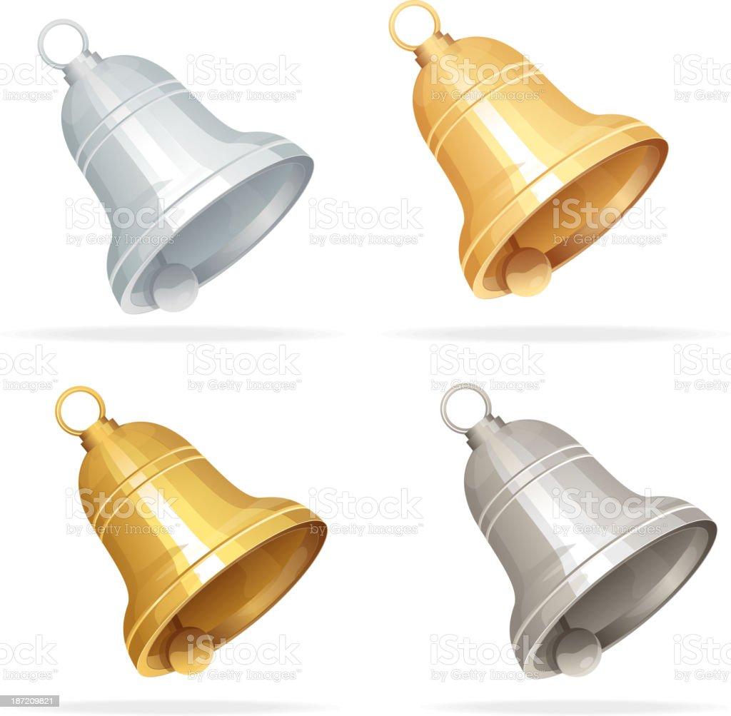 Christmas bell set on white background royalty-free stock vector art