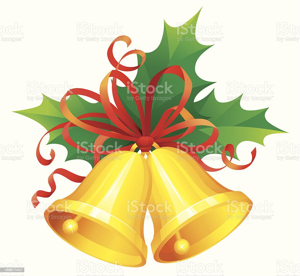 Christmas bell royalty-free stock vector art