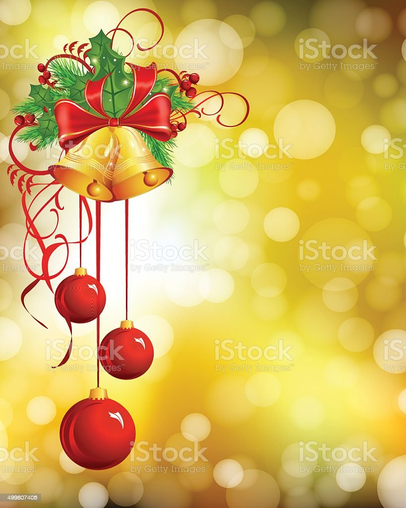 Christmas Bell vector art illustration