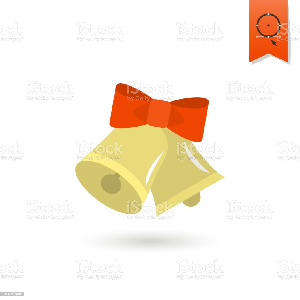 Christmas Bells. Colorful vector art illustration