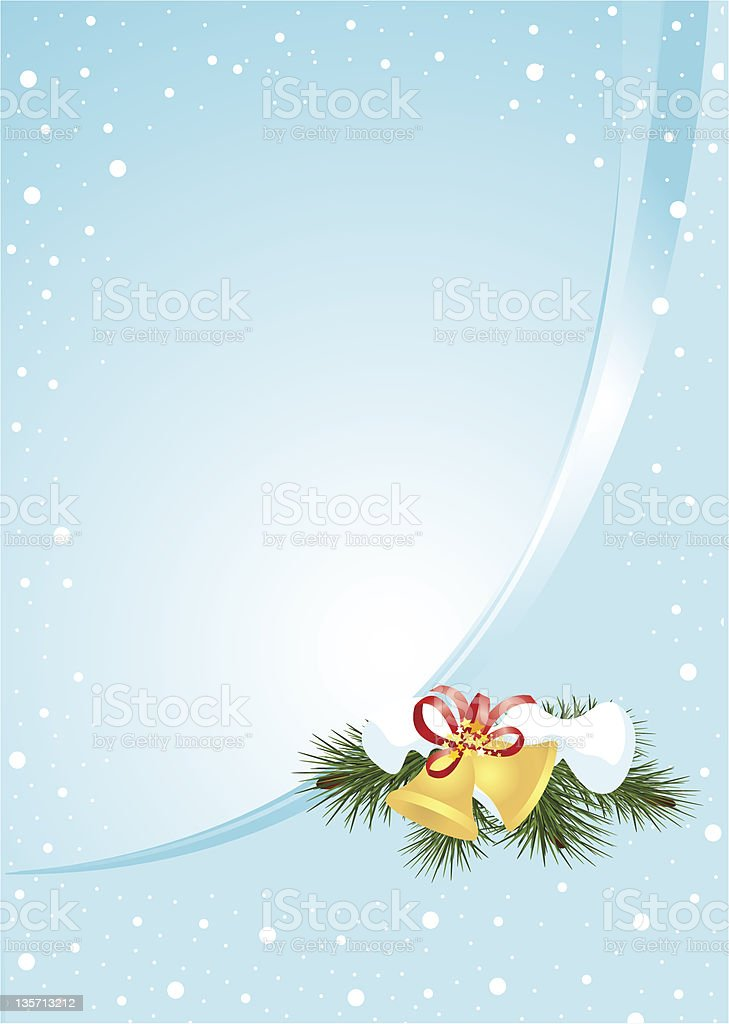Christmas bells (vertical) royalty-free stock photo
