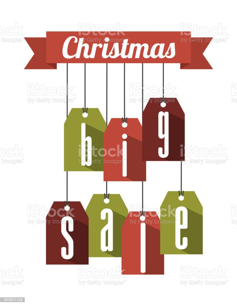 christmas big sale tags vector art illustration
