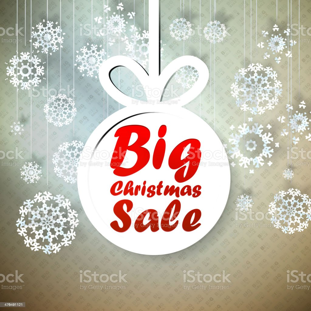 Christmas Big Sale template with copy space. royalty-free stock vector art